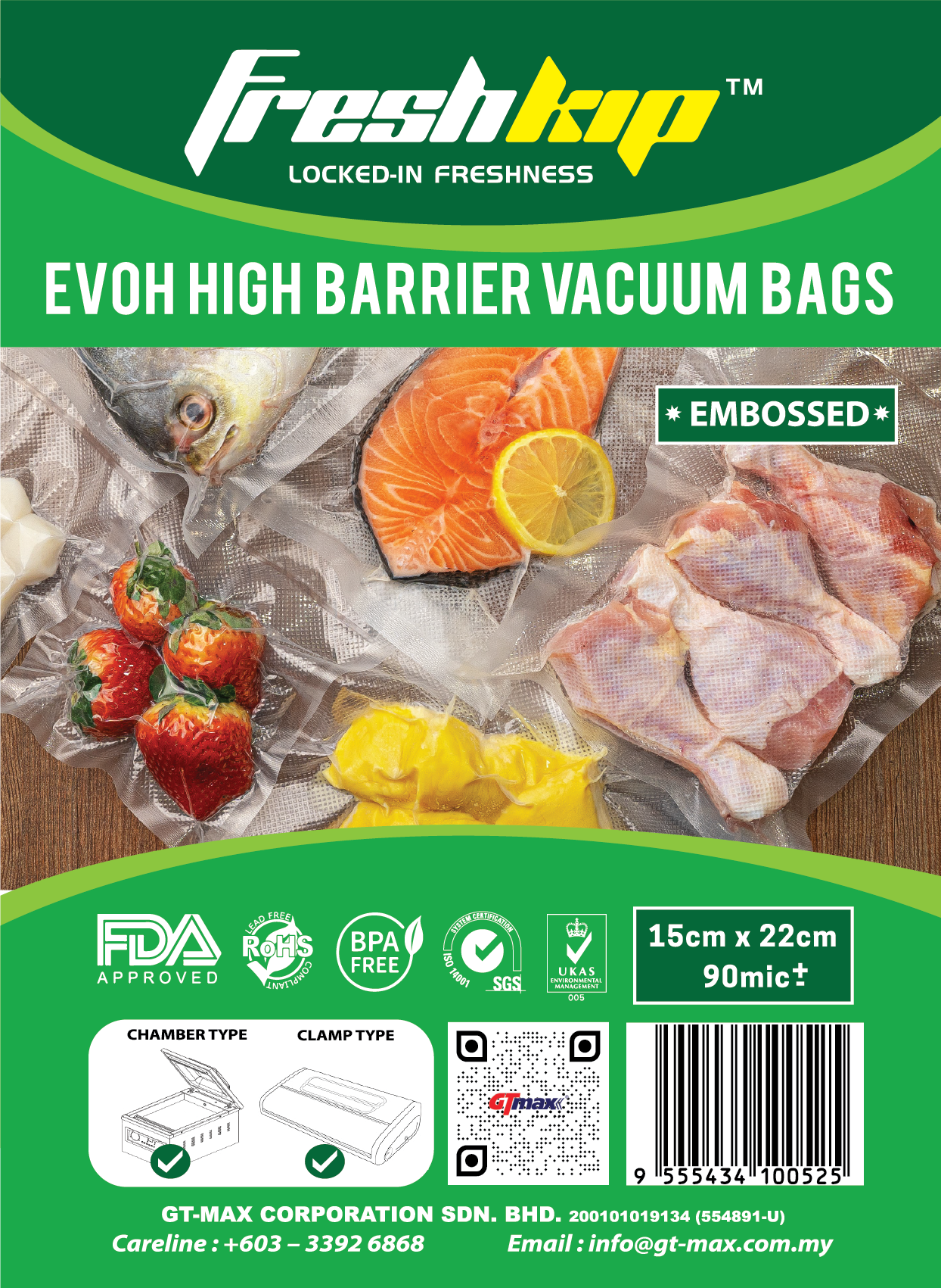 EVOH High Barrier Vacuum Bags (Freshkip™)